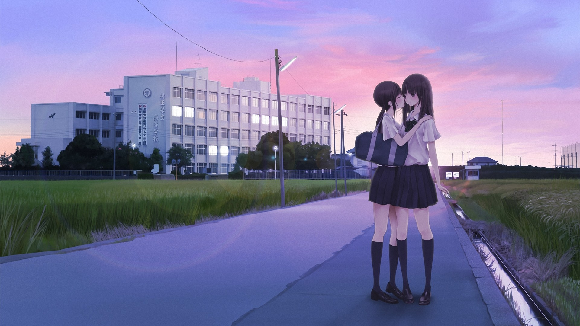 Обои с девушками целоваться